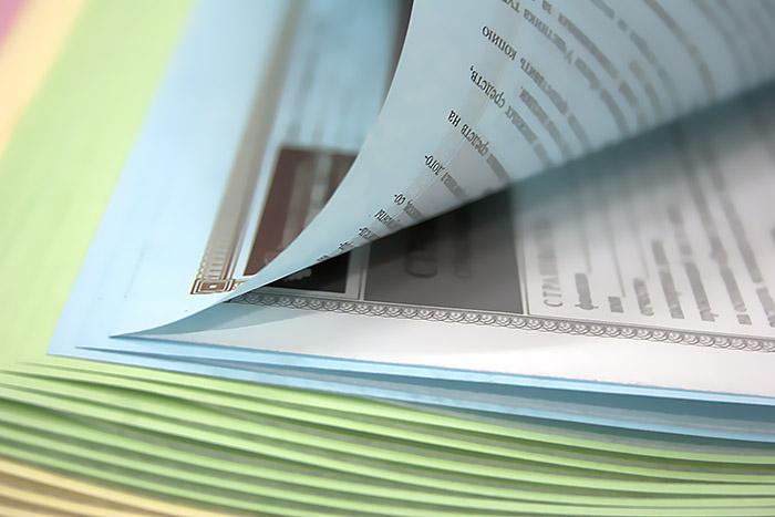 печать бланков документов